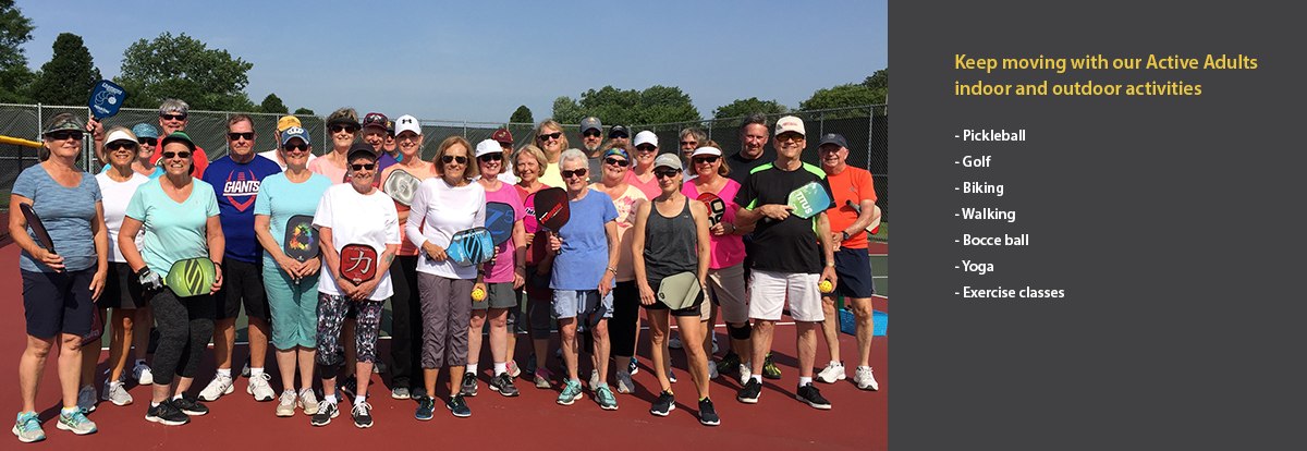 group of pickleball players on the court